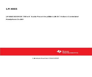 LM4865MMX/NOPB.pdf