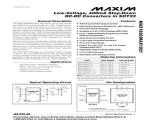 MAX1921EUT15+T.pdf