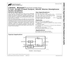 LM4925SD/NOPB.pdf