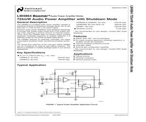 LM4864MMX/NOPB.pdf